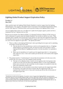 Product Support Expiration Policy – Lighting Global